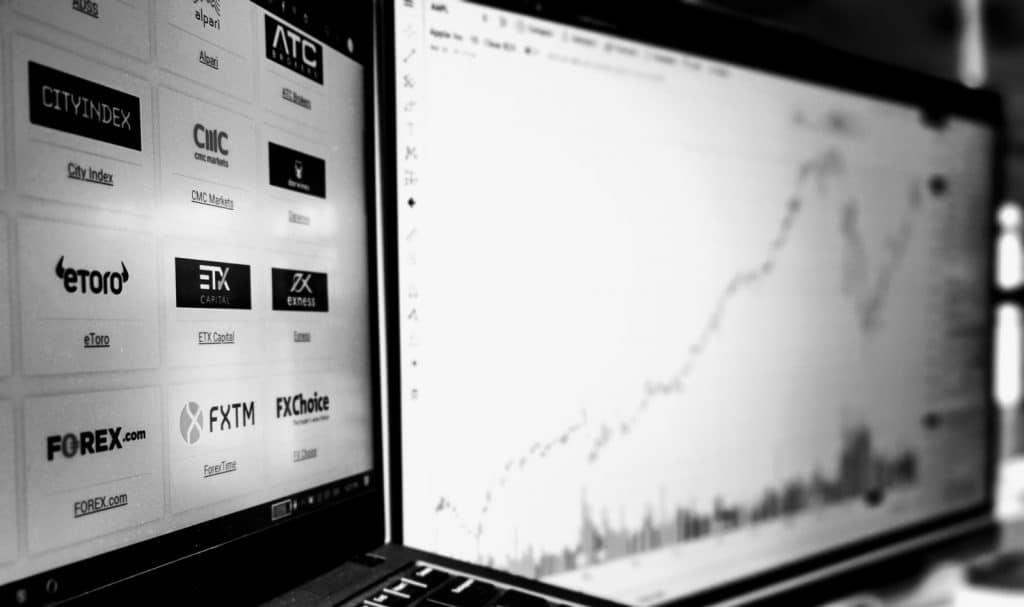 trading chart - home hero background