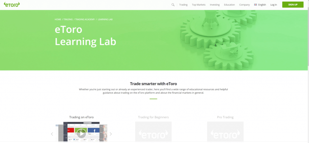 eToro trading academy learning lab